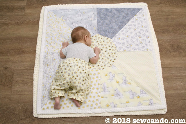 Sew Can Do Little Star Playmat Quilt Baby