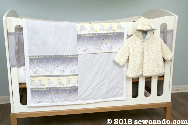 Sew Can Do Little Star Playmat Quilt Back Crib