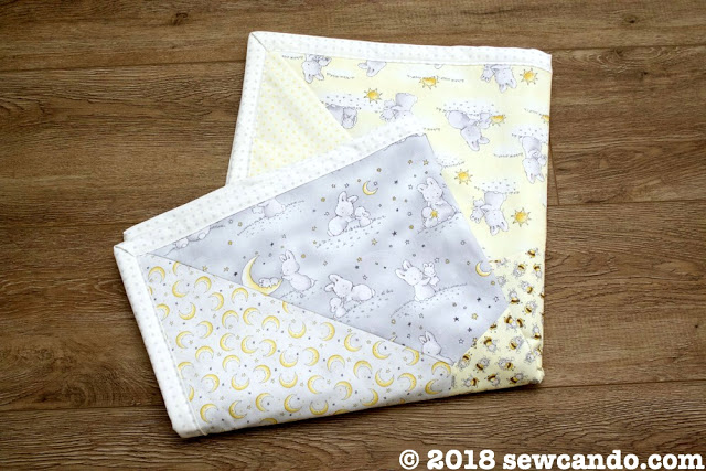 Sew Can Do Little Star Playmat Quilt Front folded