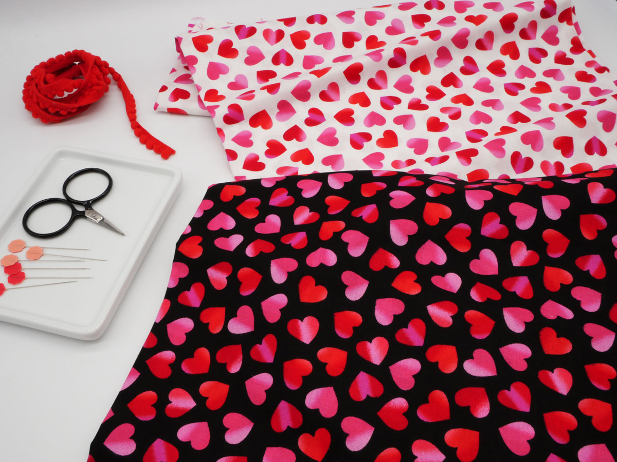 Valentine's Day // Wrap with Fabric!